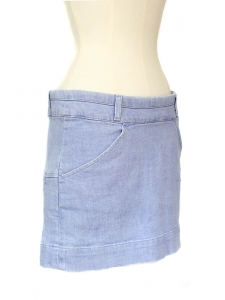 Mini jupe en jean bleu pervenche Px boutique 350€ Taille 38