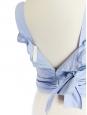 Cropped top en coton bleu clair noeud au dos Px boutique 700€ Taille 34