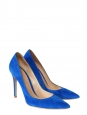 Electric blue suede stiletto pumps NEW Retail price €500 Size 38