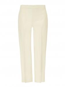 Pantalon droit en crêpe de chine ivoire Px boutique 480€ Taille 36