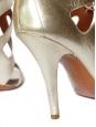 Sandales à talons en cuir mordoré NEUVES Px boutique 600€ Taille 38