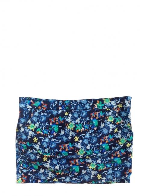 Mini jupe NEON GORDON imprimé fleuri bleu jaune vert Px boutique 290€ Taille 34