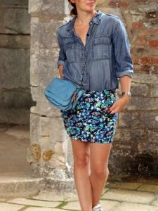 Mini jupe NEON GORDON imprimé fleuri Px boutique 290€ Taille 36