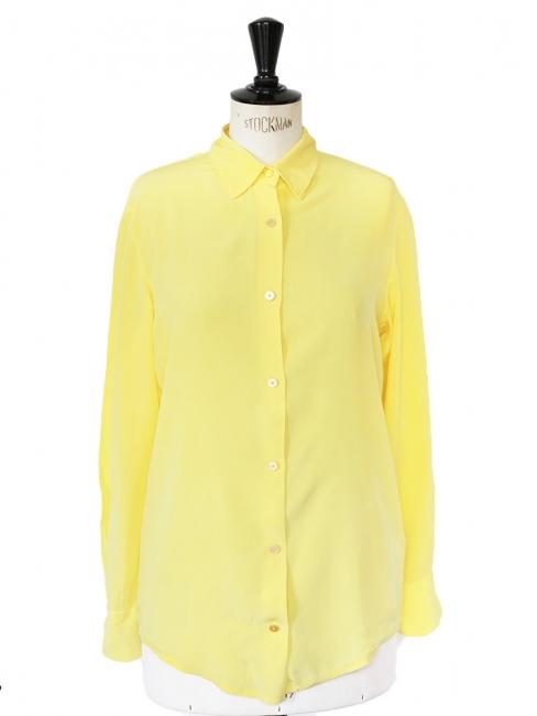 Louise Paris - ACNE Chemise manches longues en soie jaune citron Px ... d199f7e0c80
