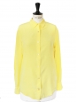 Citrus yellow silk long sleeves shirt Retail price €270 Size 36