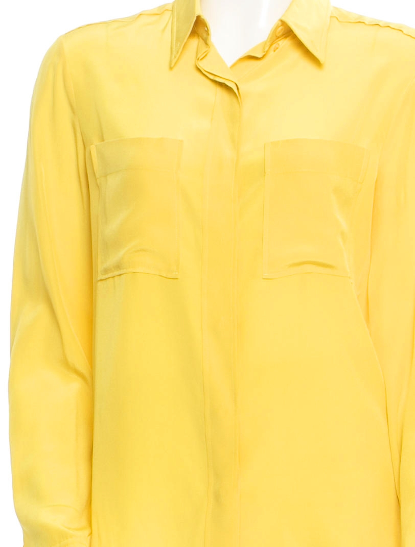 Louise Paris Chloe Bright Yellow Silk Long Sleeves