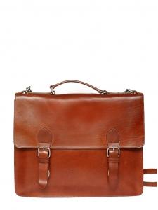 Brown leather messenger school Retail price €355
