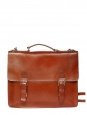 Brown leather messenger school Retail price €355