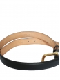 CHLOE Black leather belt with gold brass buckle Retail price €430