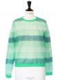 Light and dark green striped nylon sweater Retail price €320 Size S/M