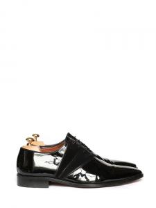 Chaussures derby en cuir verni et suede noir Px boutique 610€ Taille 43,5