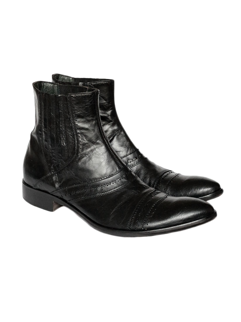 boots homme sandro jean noir use boots en cuir noires collection sandro mode homme automne hiver. Black Bedroom Furniture Sets. Home Design Ideas