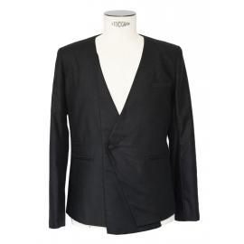 Blazer Homme smoking asymétrique en coton noir Taille M