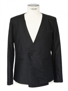 Black cotton men's tuxedo blazer jacket Size M