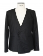 Black cotton tuxedo blazer jacket Size M
