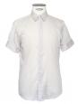 Chemise manches courtes en voile de coton gris clair Prix boutique 350€ Taille M