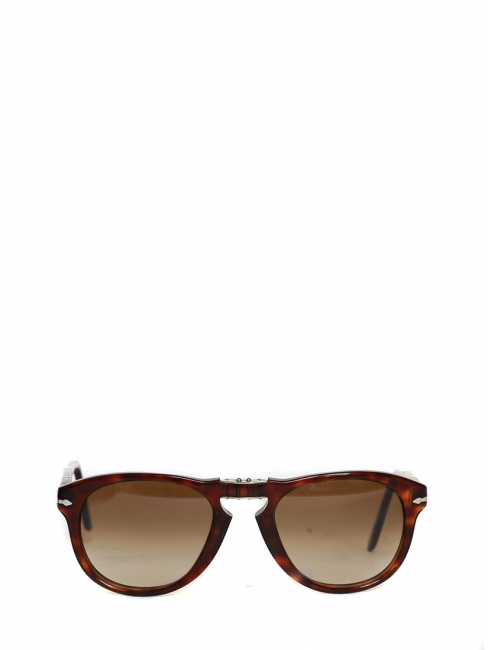 Havana Brown Faded Lenses Steve McQueen 714 folding sunglasses Retail price €150