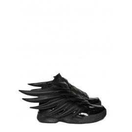 Adidas Originals by Jeremy Scott Dark Knight JS Wings 3.0 black leather sneakers Size 42
