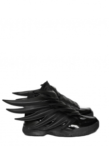 Adidas Originals by Jeremy Scott Baskets Dark Knight JS Wings 3.0 en cuir noir Taille 42