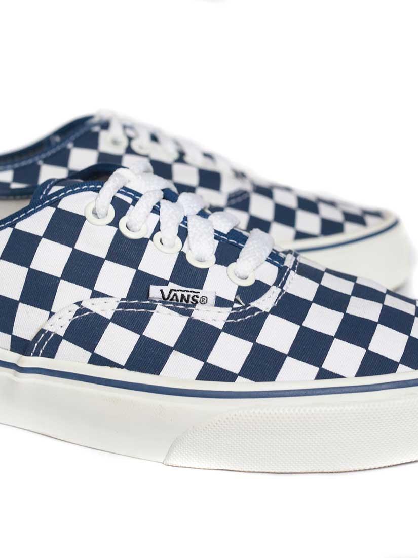 vans bleu damier
