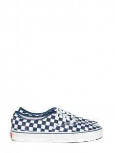 Baskets Checkerboard Authentic en toile damier bleu blanc Px boutique 75€ Taille US 8 / FR 40,5