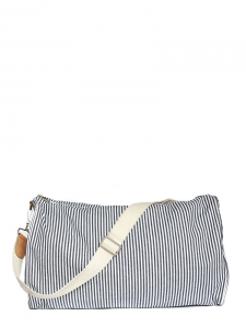 Blue white striped cotton travel bag Retail price €200