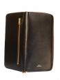 Portefeuille compagnon long en cuir de veau marron brun Px boutique 220€ NEUF