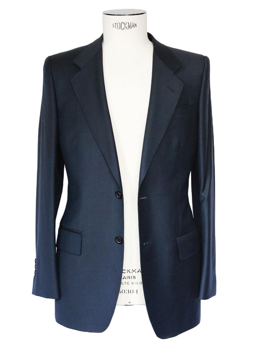 louise paris yves saint laurent costume homme veste et pantalon slim fit en laine bleu nuit px. Black Bedroom Furniture Sets. Home Design Ideas