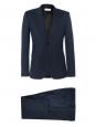 Costume Homme veste et pantalon Slim fit en laine bleu nuit Px boutique 1900€ Taille 46