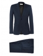 Navy blue slim fit two buttons tailored luxury suit (blazer and trousers) Retail price €1900 Size 46