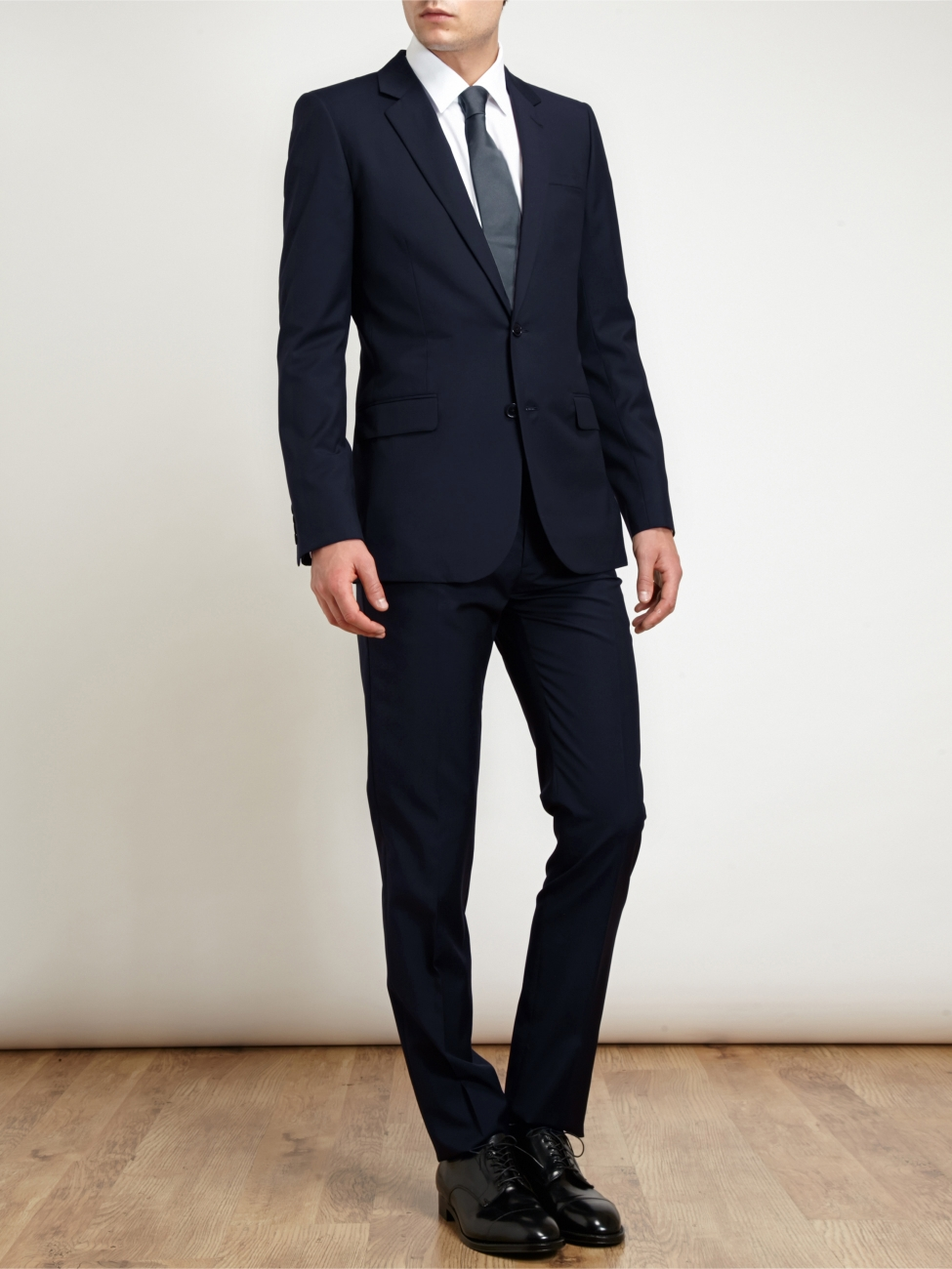 Louise Paris , YVES SAINT LAURENT Costume Homme veste et pantalon Slim fit  en laine bleu nuit Px boutique 1900\u20ac Taille 46