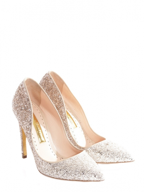 463509430d3f Elba Glitter Apricot   Silver rose gold high heel pumps Retail price €600  Size 37