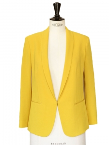 Bright yellow blazer jacket Retail price €440 Size 34