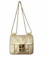 Small ELSIE Gold metallic leather crossbody bag Retail price €1150