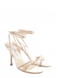 JULIET Pink beige satin silk heel bridal sandals with ankle strap Retail price €450 Size 37,5