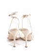Sandales JULIET open toe en satin de soie beige rosé Px boutique 405€ Taille 37,5