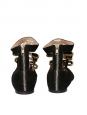 Ballerines plates bijoux en suede noir et noeud cristal Px boutique $1290 Taille 37,5