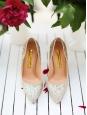 """Escarpins """" Elba Glitter Apricot gold """" à paillettes argentées Px boutique 600€ Taille 37"""