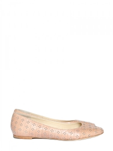 Pink ayers stud detail ballerina flats NEW Retail price €690 Size 39