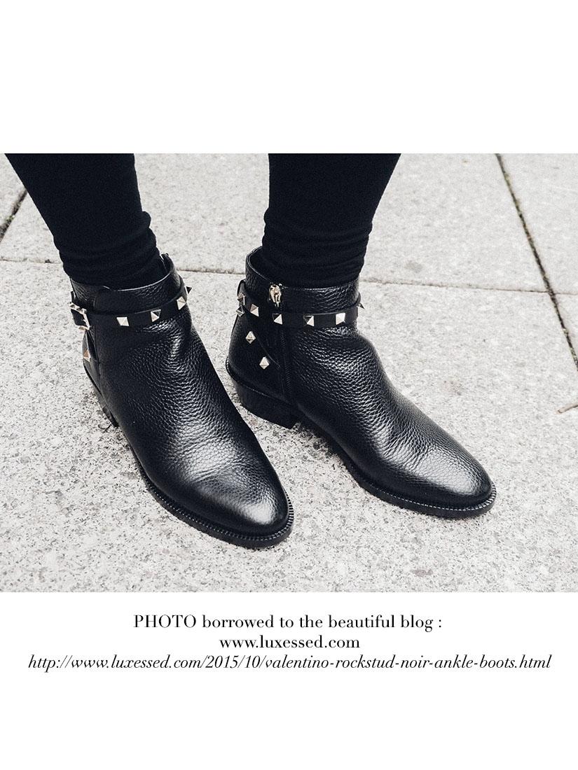 Bottines ankle boots Rockstud en cuir noir Px boutique 880\u20ac Taille 38,5