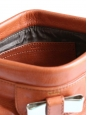 Pochette clutch LILY en cuir rose corail et noeud métallisé or Px boutique 500€