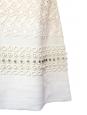 Robe en crêpe de soie beige clair, dentelle blanche et cristaux Swarovski NEUVE Px boutique 3500€ Taille 36