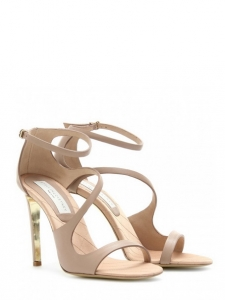 Nude faux leather heeled sandals Retail price €660 Size 37.5