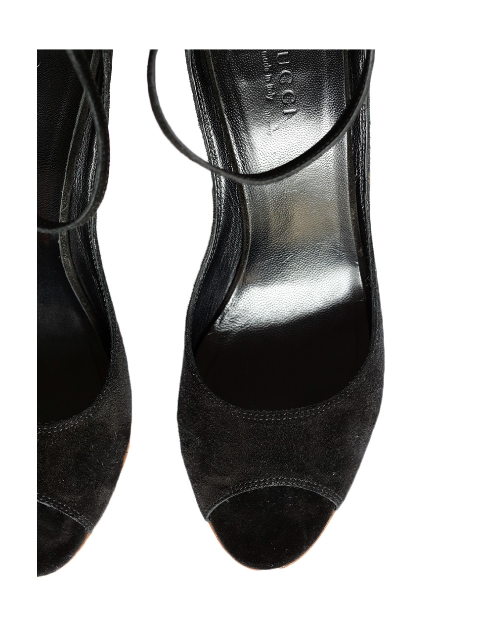 0f62c8055727 Louise Paris - GUCCI Black suede and bamboo wedge sandals Retail price €500  Size 37
