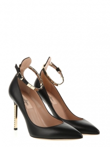 Black nappa leather and golden studded heel pumps NEW Retail price €665 Size 38