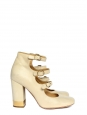 Multi-strap with gold buckles cream leather pumps Retail price €600 Size 37.5