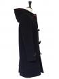 Manteau duffle-coat en laine bleu marine doublé tartan Px boutique 650€ Taille S