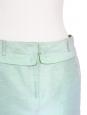 Jupe courte en coton et soie vert d'eau Px boutique 250€ Taille 38