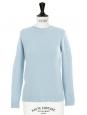 Pull en cachemire de luxe bleu ciel Px boutique 550€ Taille 36/38