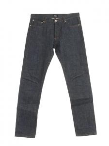 APC Jean Petit Standard en toile denim japonaise bleu foncé Px boutique 160€ Taille 31
